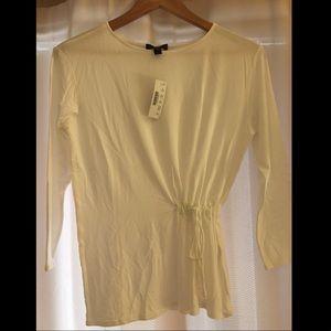 NWT Jcrew Tie-waist T-shirt (white) - size XS